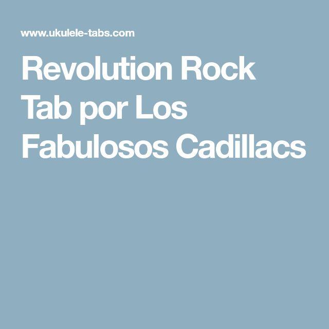 Revolution Rock Tab por Los Fabulosos Cadillacs