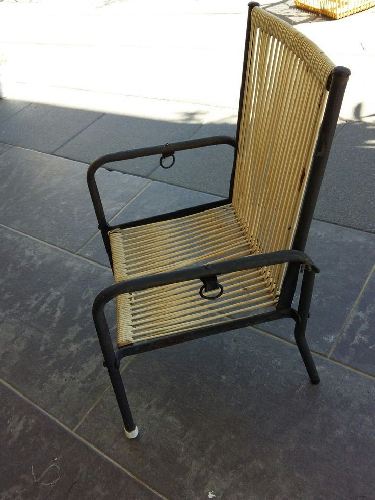 Les 25 meilleures id es de la cat gorie fauteuil enfant - Chaise scoubidou vintage ...