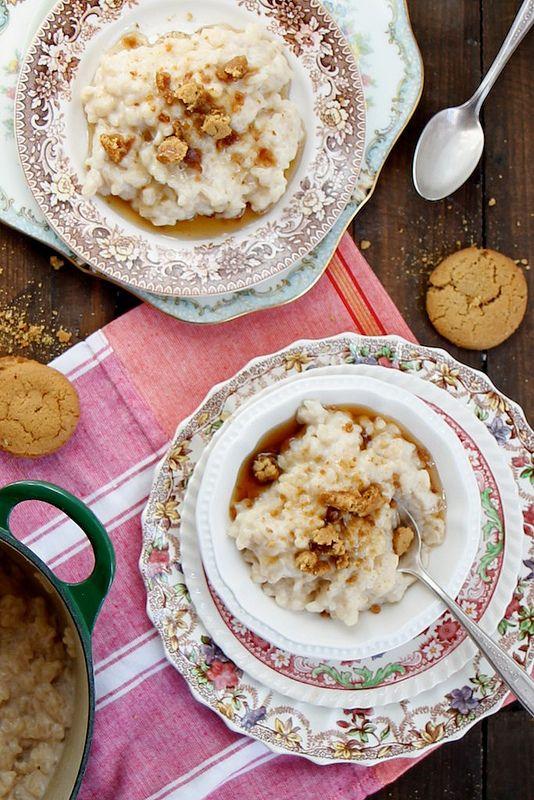 Maple Ginger Rice Pudding by joythebaker #Pudding #Rice #Maple #Ginger