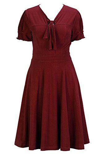 eShakti Women's Tie-neck cotton knit dress S-6 Regular Crimson eShakti http://www.amazon.com/dp/B00MOBKRKQ/ref=cm_sw_r_pi_dp_8oVjub1QGRKM1