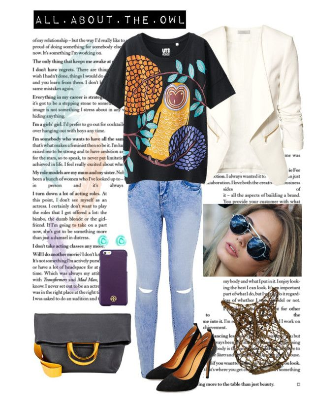 """""""#10  All about the owl"""" by alzbeta-zlochova ❤ liked on Polyvore featuring H&M, Uniqlo, Michino, Tory Burch and Monsoon"""