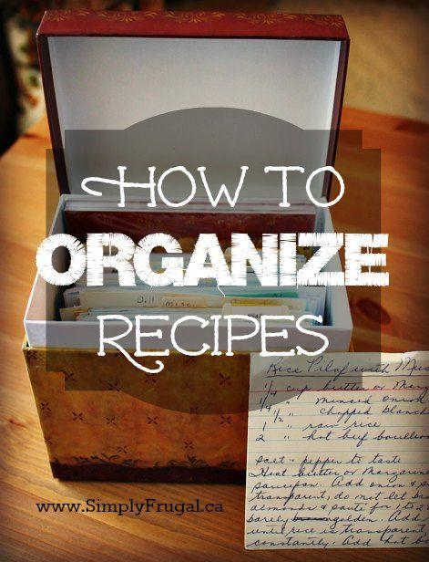 Three Ways to Organize Recipes