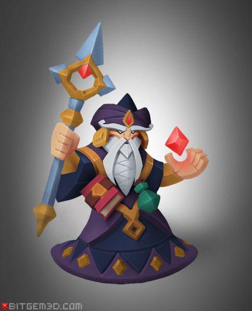The WizardHero concept No.3: The Wizard! By Dmitriy Barbashin. – Bitgem