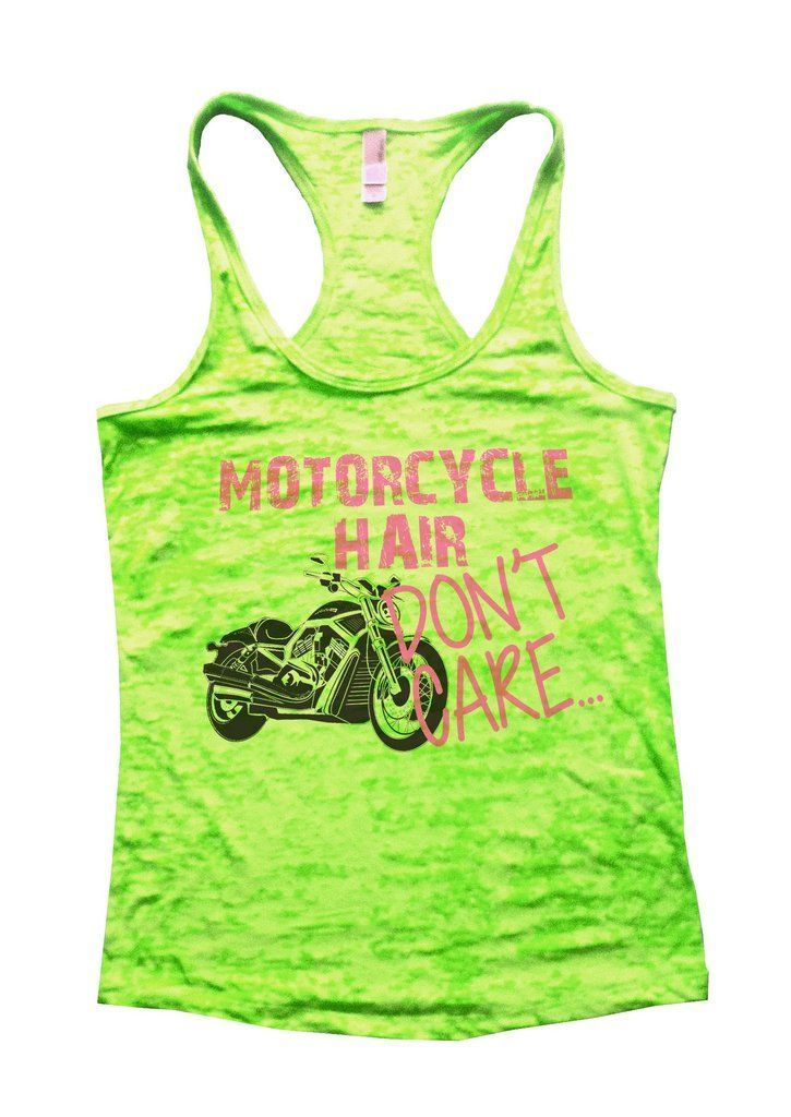 Motorcycle Hair Dont Care Burnout Tank Top By Funny Threadz - Funny Yoga Fitness Gym Tank Top Shirts - 2