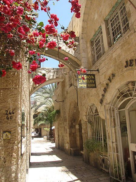 A beautiful alley way in the Jewish Quarter of Jerusalem♔                                                                                                                                                                                 More