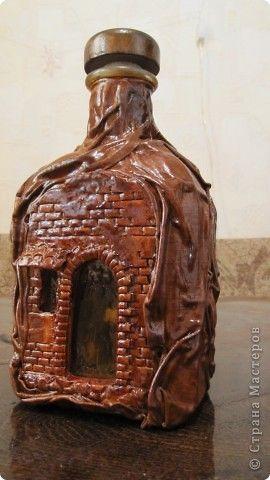 Декор предметов Лепка МК-Декор бутылки Глина фото 5