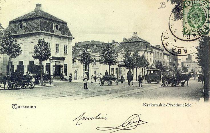 Warszawa Krakowskie Przedmieście Rzepkowicz  Vintage postcard, Alte postkarte aus Warschau, stara pocztówka, Warszawa
