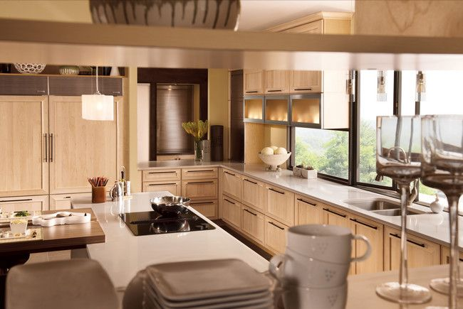 Kraftmaid solid maple in parchment cabinets all things for Cheap kraftmaid kitchen cabinets