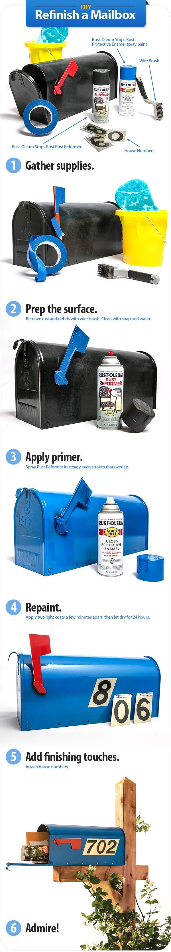 DIY: Refinish a Mailbox