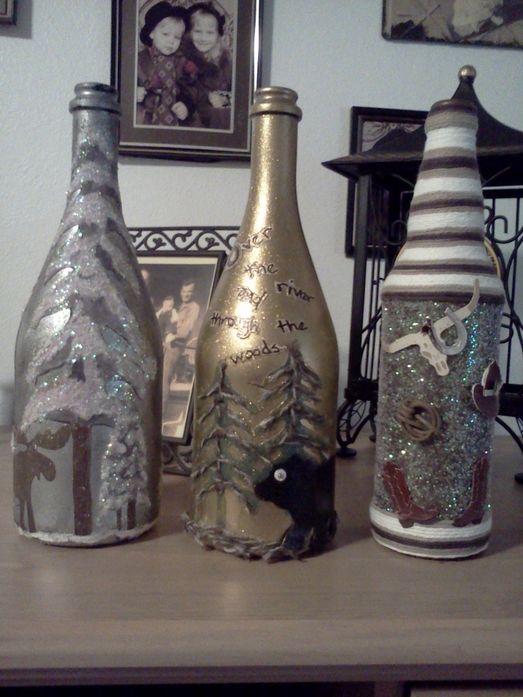 49 best tissue box ideas recycle images on pinterest for Ideas for old wine bottles