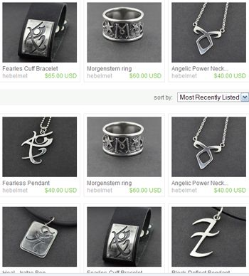 the mortal instrument jewelry | pandemoniumclub: Mortal Instruments Jewelry by designer Viviane Hebel