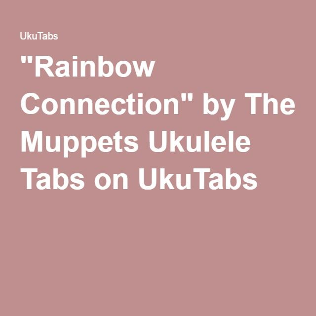 1000+ ideas about Rainbow Connection on Pinterest | Jim henson ...