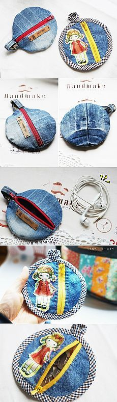 Round zipper pouch tutorial ~