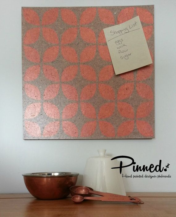 Retro flower pinboard Pasifika flower hand painted by pinnednz #pinboard #corkboard #copper #pasifika #retro http://binaryoptions360review.com/