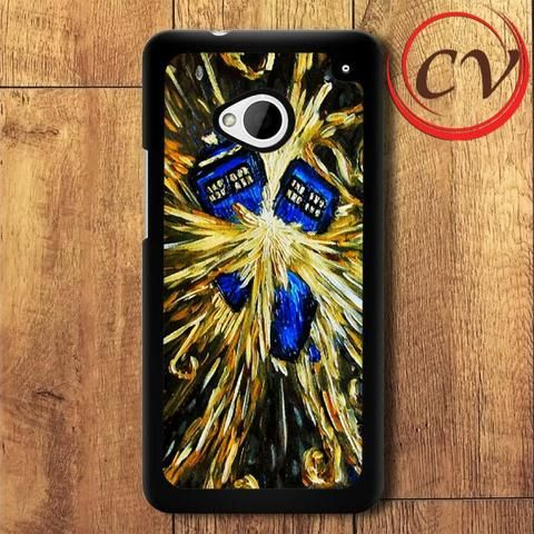 Starry Night HTC One M7 Black Case