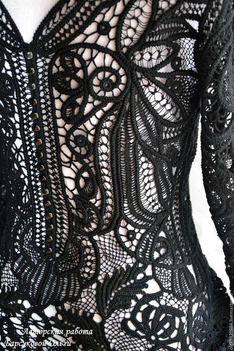 """Купить Авторское кружевное платье """"Эта Женщина"""" - черное кружевное платье, кружево ручной работы"""