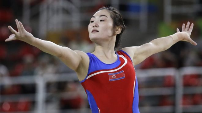 North and South Korea gymnasts at the Rio 2016 Olympic Games have shown the world a brief moment of unity, in the form of a selfie. Lee Eun-ju of South Korea and Hong Un-jong of the North took a quick smiling snapshot during the training period before the start of the Games. The pictures of the two women have been widely praised as capturing the Olympic spirit.