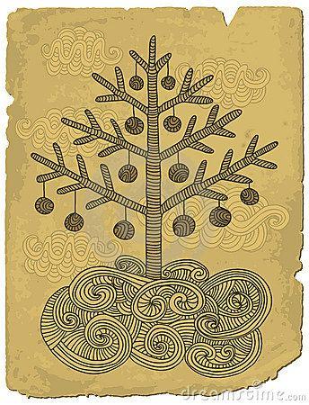 Doodle xmas tree by Bisams, via Dreamstime