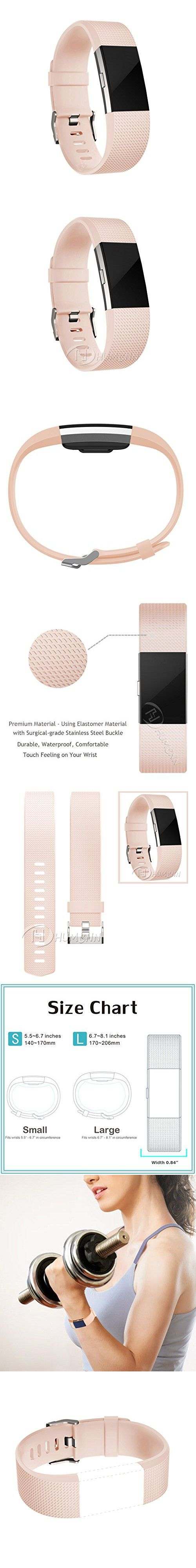 Accessory Band for Fitbit Charge 2 HR, Classic Series for Women, Blush Pink, Small