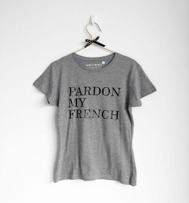 ✔️Disponível/available www.facebook.com/ThePrettyDamage #pardonmyfrench #ohhdeer #tshirt #fashion #theprettydamage #grey #bow #pretty