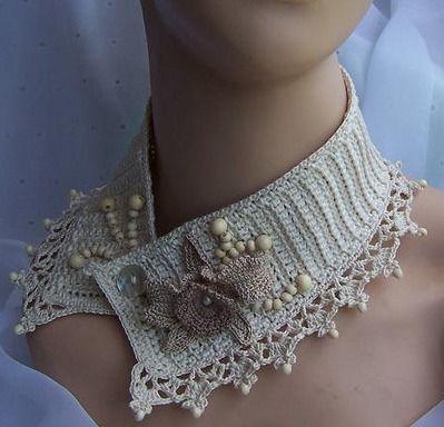Romantico do Chique Bacinete Croché Clássico - Differente! - /    Romantic Shabby Chic Headpiece Vintage Crocheted - Different!