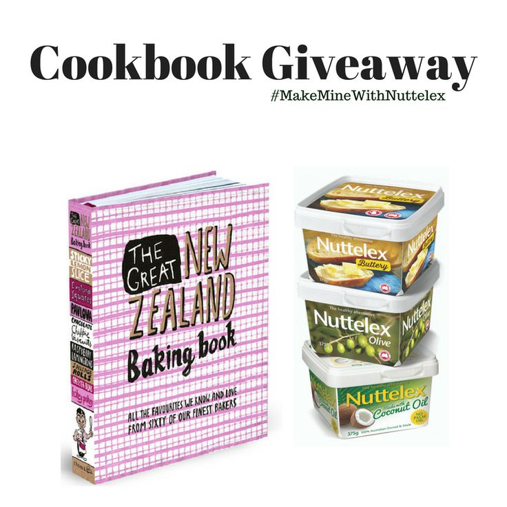 This classic features 160 sweet and savoury treats from 60 of New Zealand's  finest bakers. To be in the draw to win this classic cook book visit Nuttelex on Facebook or Instagram & tell us what classic New Zealand dish or ingredients you would love to learn to bake with, then tag two special mates you'd cook for and don't forget to use this line #NuttelexBakingInspo For T&C see www.nuttelex.com Competition starts 23rd August and ends 1st September 2017 ENTER NOW!