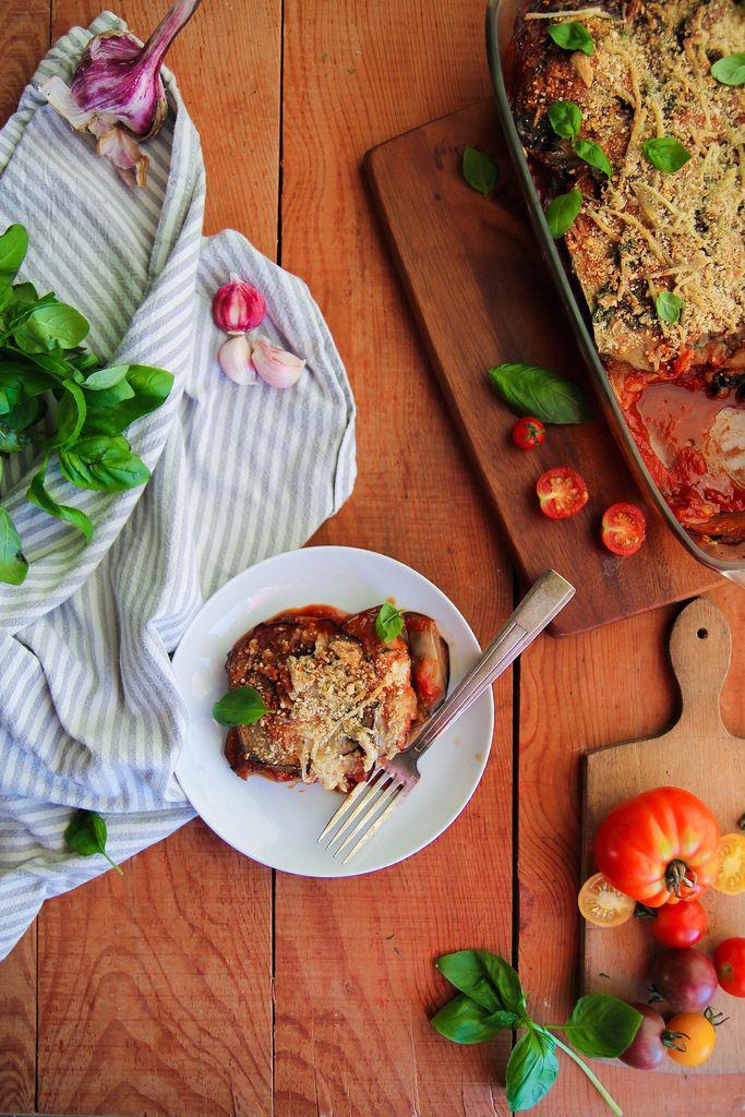 Parmesane d'aubergines {vegan – sans gluten}