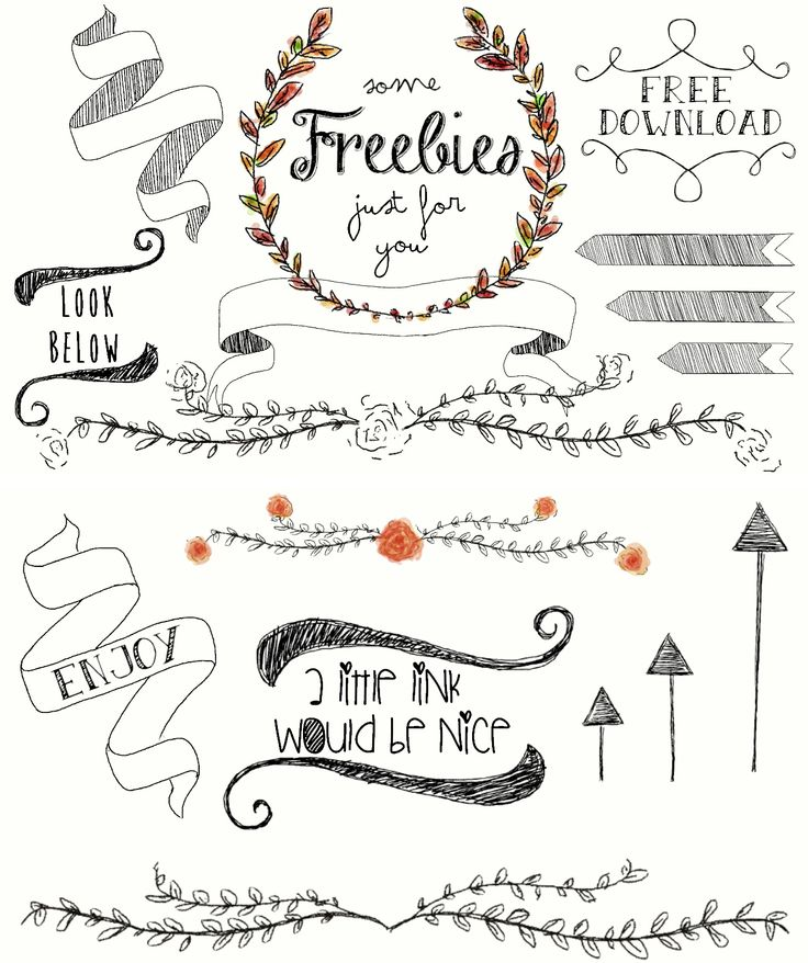 Flower Wreaths, Arrows and Branches - Free Download