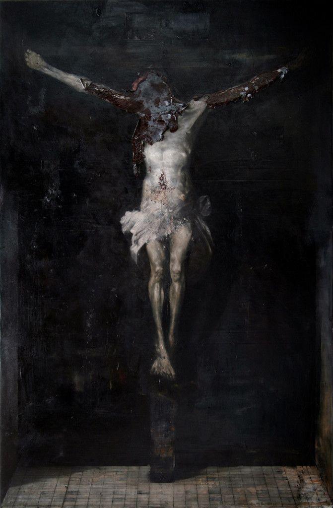 Nicola Samorì - 2011/2012, oil on linen, 300 x 200 cm