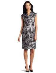 Jones New York Womens Faux Wrap Dress