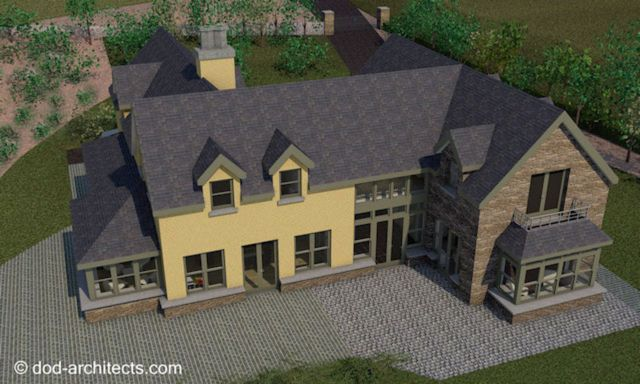 Large family home design in County Kerry, Ireland. House design: dod architects