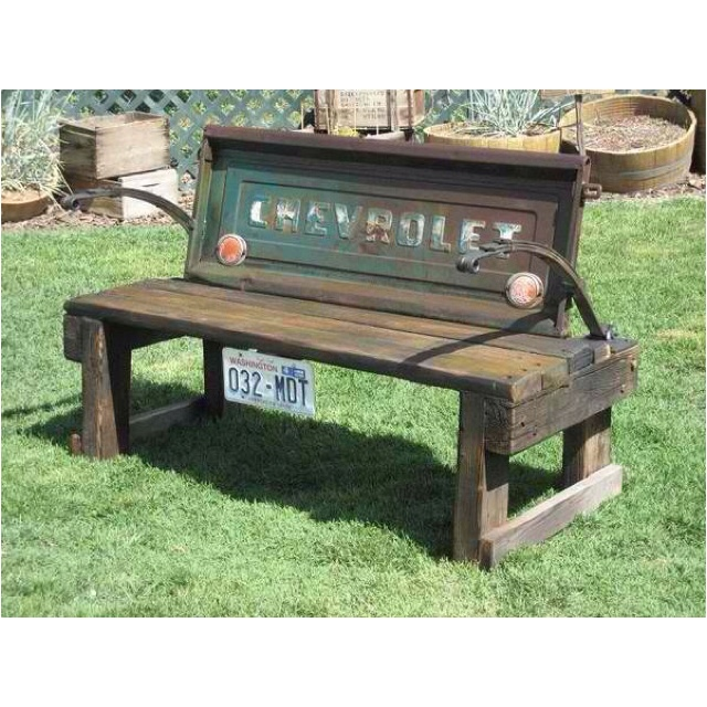 Recycle car parts & make a bench