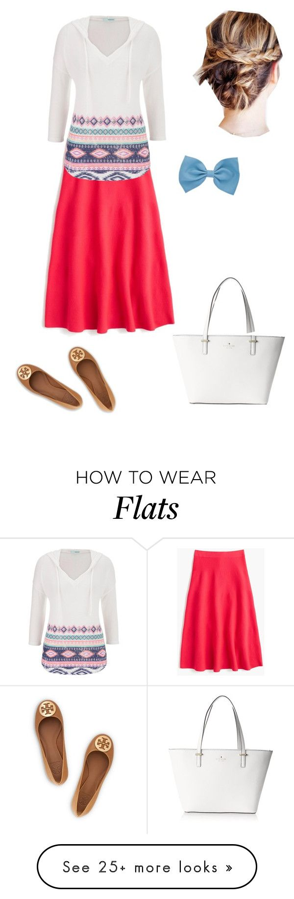 """Untitled #379"" by brendansara1018 on Polyvore featuring J.Crew, maurices, Kate Spade and Tory Burch"