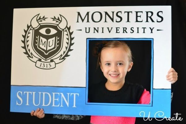 Create a Monster University ID Card for party photo op.
