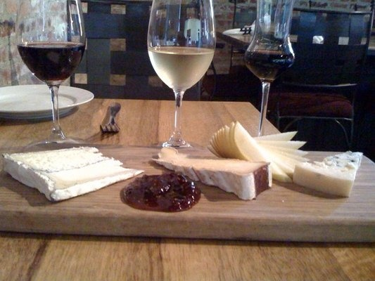 Cheese Flight with Wine Pairing | Purple Cafe