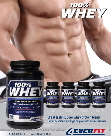 100% Whey a premium blend of Whey Concentrate, Whey Protein Isolate and Hydrolyzed Whey