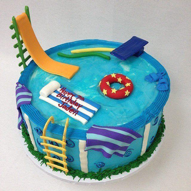 25 bolos de festa na piscina que fazem um respingo!   – 6th bday