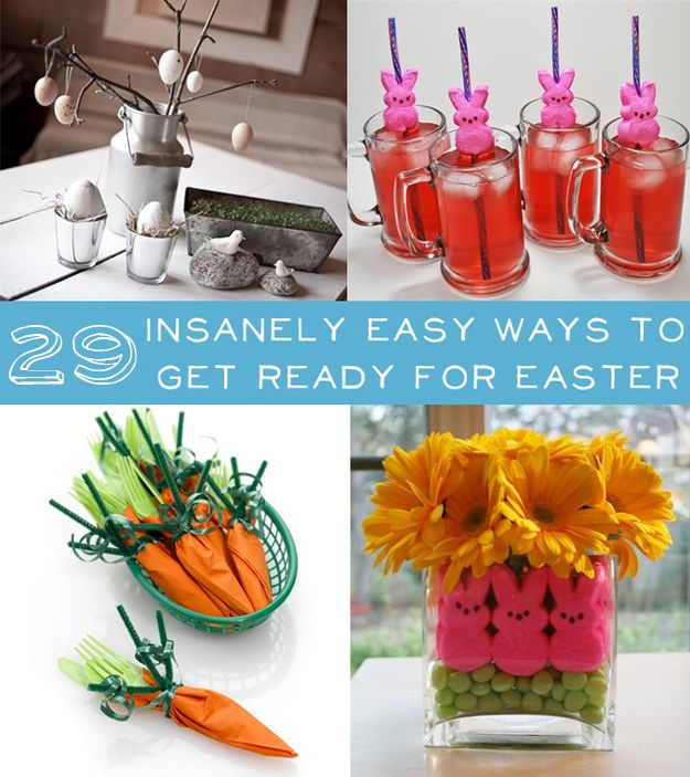 Hastily assemble an Easter party in a matter of minutes. | 36 Ways To DIY Every Part Of Your Life