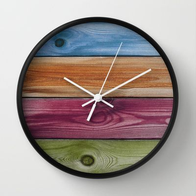 Wooden Rainbow Wall Clock by Nicklas Gustafsson - $30.00
