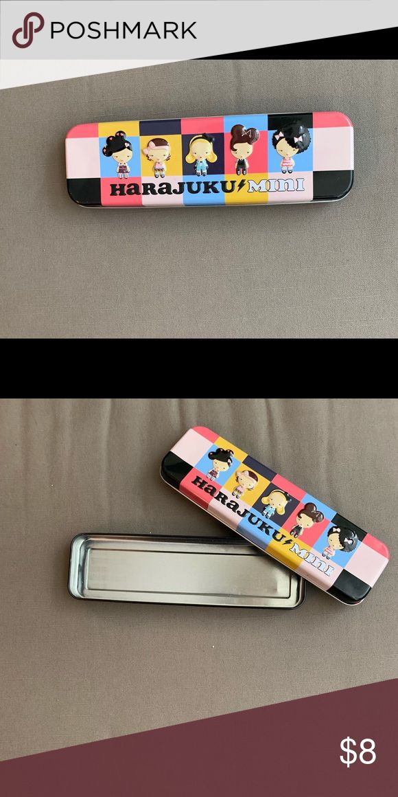Harajuku Mini Pencil Case Perfect for makeup pencils or small items. 8 inch tota…