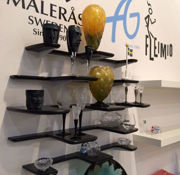 Black Fleimio Pine Cone wall shelf with crystals on the Maison & Objet Paris Sep 2016.