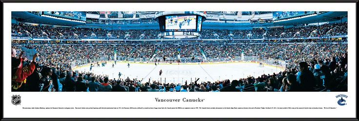 Vancouver Canucks Panoramic - Rogers Arena Picture Framed