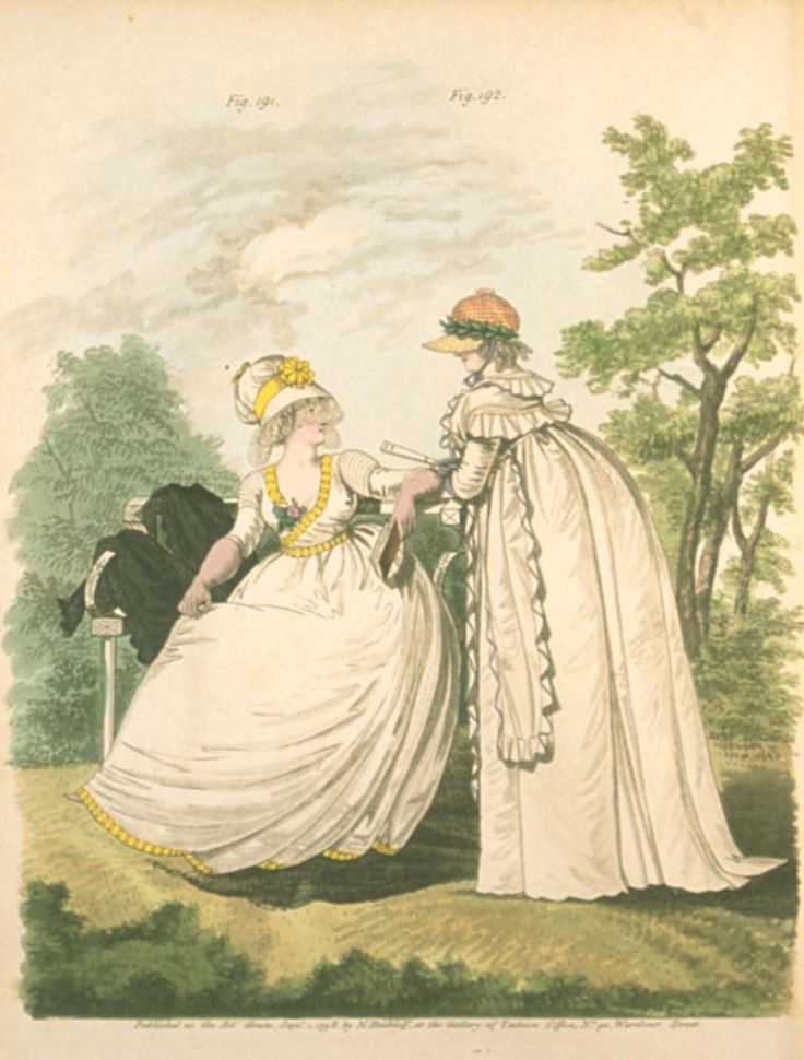 Gallery of fashion September 1798 - Morning dresses