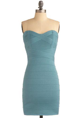 Aquamarine pencil dress