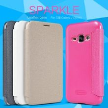 Leather Case for Samsung Galaxy J1 (2016) Original NILLKIN Sparkle series Fashion Flip Cover for Samsung Galaxy J1 2016(China (Mainland))