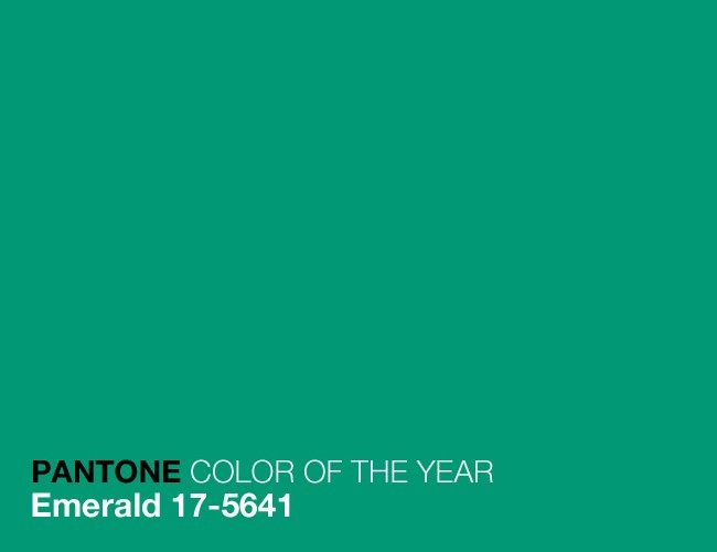 We're gaga for #Emerald Green, @PANTONE COLOR's choice for the 2013 #ColoroftheYear!