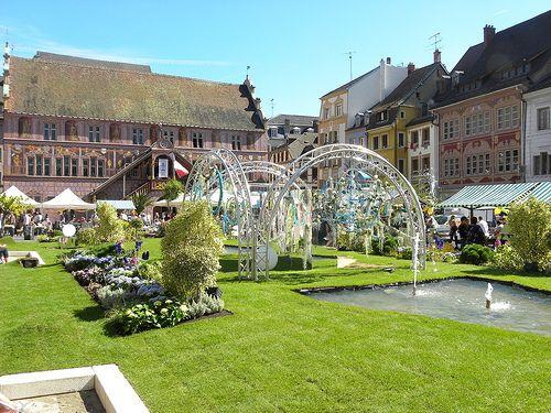 Un jardin dans la ville à Mulhouse en Alsace  www.tourisme-mulhouse.com #mulhouse #alsace #jardin