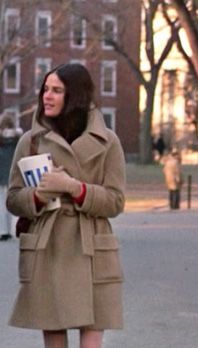 "Ali McGraw's preppie style in the 1970 movie ""Love Story""."