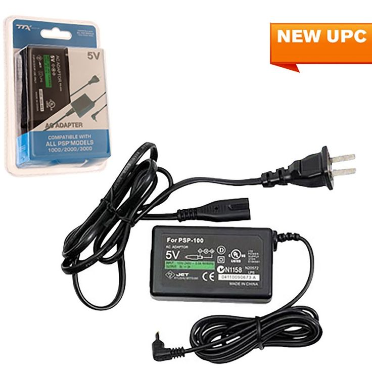 AC Power Adapter-  (TTX Tech)  https://www.retrogamingstores.com/gaming-accessories/psp-adapter-ac-power-psp-1000-2000-3000-compatible-1485086466  PSP 1000/2000/3000 Compatible - Retail Package