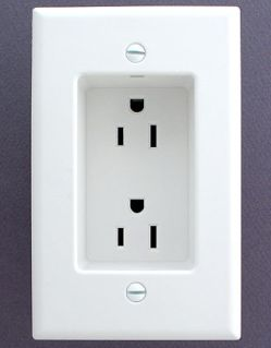 Recessed outlet -- brilliant!